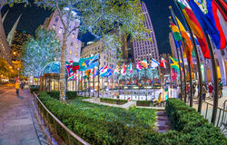 NEW YORK - NOVEMBER 5: Rockefeller Center on November 5, 2015 in. NYC. Rockefeller Center is a complex of 19 commercial buildings, built by the Rockefeller Stock Photos