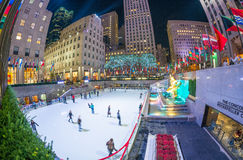 NEW YORK - NOVEMBER 5: Rockefeller Center on November 5, 2015 in. NYC. Rockefeller Center is a complex of 19 commercial buildings, built by the Rockefeller Royalty Free Stock Photo
