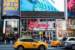 Disney store located in Manhattan in Times Square in the heart if the Big Apple royalty free stock photo