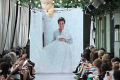 General atmosphere on the runway at the Amsale Tribute Spring 2019 runway show Royalty Free Stock Photos