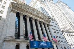 New York Stock Exchange. New York, NY: August 27, 2016: NYSE on Wall Street. The New York Stock Exchange NYSE is the largest stock exchange in the world by Stock Photography