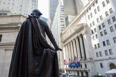New York Stock Exchange. New York, NY: August 27, 2016: NYSE on Wall Street. The New York Stock Exchange NYSE is the largest stock exchange in the world by Royalty Free Stock Photography
