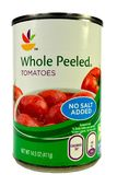 New York, NY, Dec, de Close-up van de V.S. 2 van 2014 van a kan van Italiaanse tomaten zonder toegevoegd zout Stock Fotografie
