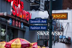 Congested New York City view royalty free stock photos