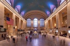 New York, NY/Estados Unidos - março 25, 2019: Paisagem do interior do terminal grande da estação em Manhattan foto de stock royalty free