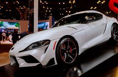 New York, NY USA - APRIL 20, New 2020 TOYOTA C-HR PROTOTYPE sport car on display New York International Auto Show at Jacob Javits