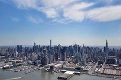 NEW YORK, NY, EUA: Vista aérea de Manhattan em New York Fotos de Stock