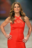 NEW YORK, NY - FEBRUARY 06: Jillian Michaels wearing Cushnie et Ochs walks the runway at The Heart Truth's Red Dress Collection du Royalty Free Stock Photography