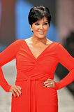 NEW YORK, NY - FEBRUARY 06: Kris Jenner wearing Badgley Mischka walks the runway at The Heart Truth's Red Dress Collection during. Fall 2013 Mercedes-Benz royalty free stock photography