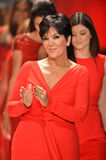 NEW YORK, NY - FEBRUARY 06: Kris Jenner wearing Badgley Mischka walks the runway at The Heart Truth's Red Dress Collection during. Fall 2013 Mercedes-Benz stock photo