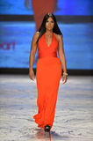 NEW YORK, NY - FEBRUARY 06: Toni Braxton wearing Herve L. Leroux walks the runway at The Heart Truth's Red Dress Collection during. Fall 2013 Mercedes-Benz stock images