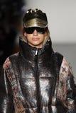 A model walks the runway at Custo Barcelona Fashion Show royalty free stock photo