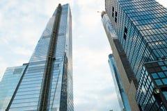 New York, NY - 18. Januar 2018: Wolkenkratzer in New- York Citystadtzentrum stockfotografie