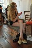NEW YORK, NY - June 16: A model  backstage Stock Photo