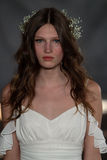 NEW YORK, NY - June 16: A model walks the runway at the Claire Pettibone Spring 2015 Bridal collection show