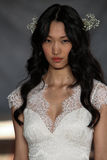 NEW YORK, NY - June 16: A model walks the runway at the Claire Pettibone Spring 2015 Bridal collection show Royalty Free Stock Photo