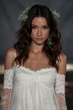 NEW YORK, NY - June 16: A model walks the runway at the Claire Pettibone Spring 2015 Bridal collection show Stock Photography