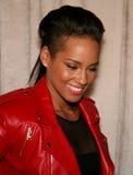 NEW YORK, NY - 19 MAGGIO: Alicia Keys prima della sfilata di moda dei bambini di Ralph Lauren Fall 14 Fotografia Stock