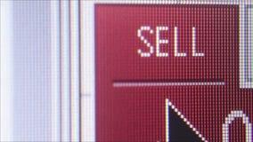 NEW YORK, NY - 15 MAGGIO 2016: Macro CU dello schermo di servizi finanziari con due colonne delle fluttuazioni di valuta archivi video