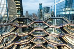 Free New York, NY - March 15 2019: The Vessel Building In Hudson Yards Manhattan Opened Royalty Free Stock Photo - 142108395