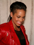 NEW YORK, NY - MAY 19: Alicia Keys before the Ralph Lauren Fall 14 Children's Fashion Show Stock Photo