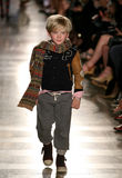 NEW YORK, NY - MAY 19: A model walks the runway at the Ralph Lauren Fall 14 Children's Fashion Show Royalty Free Stock Photos