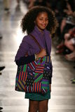 NEW YORK, NY - MAY 19: A model walks the runway at the Ralph Lauren Fall 14 Children's Fashion Show Stock Photo