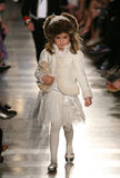 NEW YORK, NY - MAY 19: A model walks the runway at the Ralph Lauren Fall 14 Children's Fashion Show Royalty Free Stock Photography