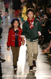 NEW YORK, NY - MAY 19: Models walk the runway at the Ralph Lauren Fall 14 Children's Fashion Show Stock Images