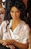 NEW YORK, NY - NOVEMBER 13: Adriana Lima poses backstage at the 2013 Victoria's Secret Fashion Show Stock Image