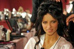 NEW YORK, NY - NOVEMBER 13: Adriana Lima poses backstage at the 2013 Victoria's Secret Fashion Show Royalty Free Stock Images