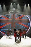NEW YORK, NY - NOVEMBER 13: British military drummers opening British invasion segment of 2013 Victoria's Secret Fashion Show Royalty Free Stock Photos