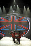 NEW YORK, NY - NOVEMBER 13: British military drummers opening British invasion segment of 2013 Victoria's Secret Fashion Show Stock Image