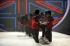 NEW YORK, NY - NOVEMBER 13: British military drummers opening British invasion segment of 2013 Victoria's Secret Fashion Show Royalty Free Stock Photo