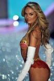 NEW YORK, NY - NOVEMBER 13: The first model out Candice Swanepoel walks in the 2013 Victoria's Secret Fashion Show Stock Image