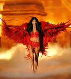 NEW YORK, NY - NOVEMBER 13: Model Adriana Lima walks the runway at the 2013 Victoria's Secret Fashion Show Royalty Free Stock Image