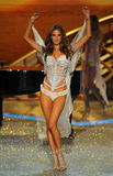 NEW YORK, NY - NOVEMBER 13: Model Alessandra Ambrosio walks the runway at the 2013 Victoria's Secret Fashion Show Royalty Free Stock Images