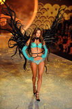 NEW YORK, NY - NOVEMBER 13: Model  Alessandra Ambrosio walks in the 2013 Victoria's Secret Fashion Show Stock Photography