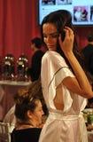 NEW YORK, NY - NOVEMBER 13: Model Barbara Fialho poses at the 2013 Victoria's Secret Fashion Show Stock Photo