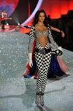NEW YORK, NY - NOVEMBER 13: Model Barbara Fialho walks in the 2013 Victoria's Secret Fashion Show Royalty Free Stock Image
