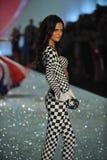 NEW YORK, NY - NOVEMBER 13:Model Barbara Fialho walks in the 2013 Victoria's Secret Fashion Show Stock Photo