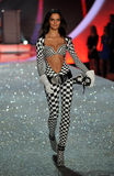 NEW YORK, NY - NOVEMBER 13:Model Barbara Fialho walks in the 2013 Victoria's Secret Fashion Show Stock Image