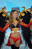 NEW YORK, NY - NOVEMBER 13: Model Behati Prinsloo walks the runway at the 2013 Victoria's Secret Fashion Show Stock Image