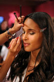 NEW YORK, NY - NOVEMBER 13: Model Cindy Bruna poses at the 2013 Victoria's Secret Fashion Show Royalty Free Stock Images