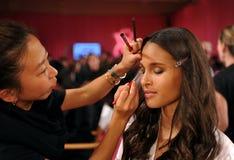 NEW YORK, NY - NOVEMBER 13: Model Cindy Bruna poses at the 2013 Victoria's Secret Fashion Show Stock Photos