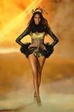 NEW YORK, NY - NOVEMBER 13: Model Cindy Bruna walks in the 2013 Victoria's Secret Fashion Show Stock Images