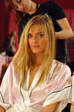 NEW YORK, NY - NOVEMBER 13: Model Constance Jablonski prepares at the 2013 Victoria's Secret Fashion Show Stock Photography