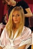 NEW YORK, NY - NOVEMBER 13: Model Constance Jablonski prepares at the 2013 Victoria's Secret Fashion Show Stock Photography