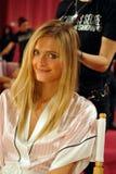 NEW YORK, NY - NOVEMBER 13: Model Constance Jablonski prepares at the 2013 Victoria's Secret Fashion Show Stock Images
