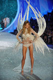 NEW YORK, NY - NOVEMBER 13: Model Constance Jablonski walks the runway at the 2013 Victoria's Secret Fashion Show Stock Photo